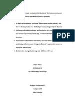 Strategic Analysis and Evaluation of Ryanair