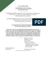VA v Sebelius Marshall Amicus Brief of Gun Owners of America et al
