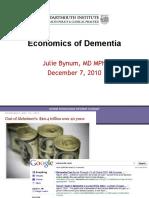 The Economics of Dementia (Julie P.W. Bynum)
