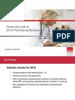 AAHA - Close Up Look at 2010 Purchasing Behavior