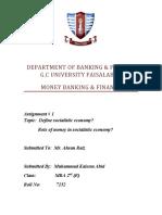 MBF Social Economics & Role of Money