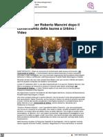 La festa per Mancini dopo la laurea - Laltrogiornale.it, 29 settembre 2021