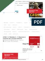 CCNA 1 v7 Modules 4 - 7_ Réponses à l'examen des concepts Ethernet