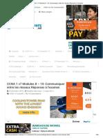 CCNA 1 v7 Modules 8 - 10_ Communiquer entre les réseaux Réponses à l'examen