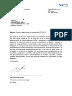 ANEXO 8. CERTIFICACION ARL SURA PROTOCOLO BIOSEGURIDAD A CONSTRUIR MAYO 2020