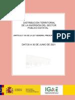 Distribució Territorial Primer Semestre 2021