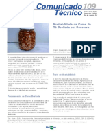 EMBRAPA_Aceitabilidade Da Carne de Rã Desfiada Em Conserva