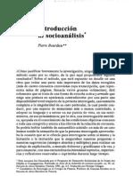 Bourdieu-Introducción al socioanálisis