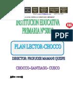 Plan Lector 2019.Chocco