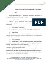 PROCEDIMENTO PADRÃO - TRABALHOS COM ELETRICIDADE