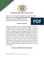 Destituyen e inhabilitan a juez de Florencia por otorgar libertad condicional a dos condenados