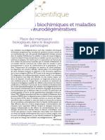 Marqueurs biochimiques et maladies neurodégénératives