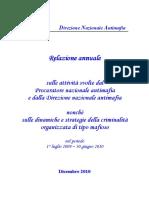 ANNUAL REPORT OF THE DNA (National Anti-Mafia Directorate)
