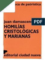 33. JUAN DAMASCENO - Homilías Cristológicas y Marianas