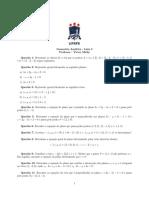 Geometria Analtica Lista 3