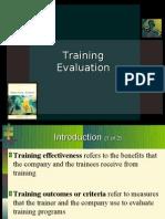 training evaluation ppt