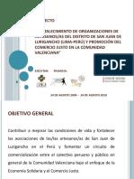 Presentacion - PROYECTO COMERCIO JUSTO II