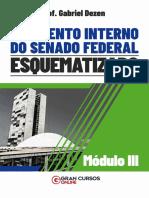 Senado Material Esquematizado de Regimento Interno Modulo III Prof Gabriel Dezen