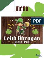 Leith Bhrogan Menu