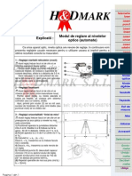 Explicatii - Modul de reglare al nivelei optice