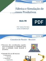 Aula 06 - Projeto de Fábrica e Simulação de Processos Produtivos