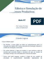 Aula 07 - Projeto de Fábrica e Simulação de Processos Produtivos