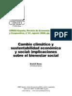 cambio climático y sustentabilidad económica y social - emérit bono