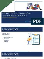 PROYECTO DE INVESTIGACIÓN E INNOVACIÓN TECNOLÓGICA