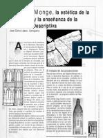 Gaspard Monge, la estética de la Ilustración y la enseñanza de la Geometría Descriptiva