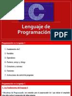 1.0. Programación en Lenguaje C