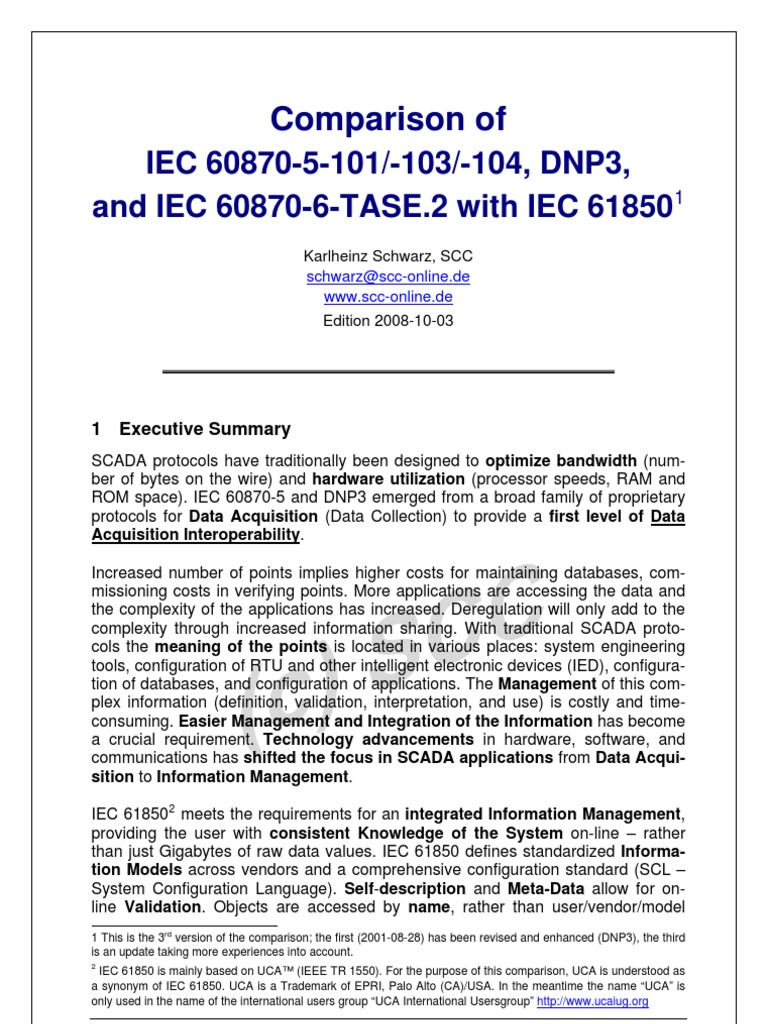 Comparison_DNP_60870_61850_2008-10-03[1]   Scada   Information