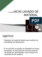 TECNICAS LAVADO DE MATERIAL
