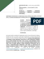 Me Paersono Al Proceso Expediente 00706-2016!40!1618-Jr-pe-01 Elmer Teobaldo Santos Ponce