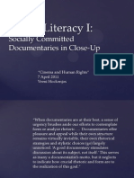 Cinema and Human Rights - Media Literacy