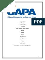 PSICOPATOLOGIA II , TAREA I.
