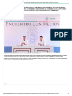 29:09:2021 Desmiente el gobernador Astudillo información falsa de supuesta deuda del Gobierno de Guerrero