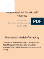 Autistic Self Advocacy Network Webinar with Autism NOW April 7, 2011