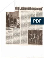 Ioan Rotundu Și Masoneria Botoșăneană