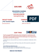 Ceat tyre summer intership report for Penetration in the market & Set up New distribution channel, Finding New Point of sales
