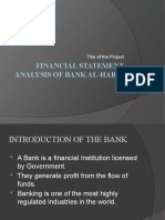 Financial statement analysis of bank al-habib