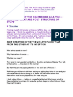 LIVE - Story of Dimensions a La Tim — Who & What Are You?   Structure of Stuff