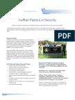 Human Factors in Security