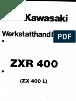 Kawasaki ZXR400 (ZX400 L) Service Manual GER