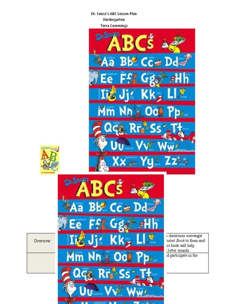 dr  seuss lesson plan200 20   PDF   Alphabet Book   Alphabet