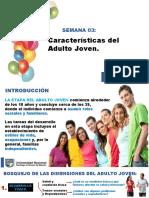 CARACTERISTICAS DEL ADULTO JOVEN