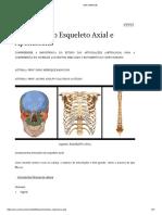 Artrologia do Esqueleto Axial e Apendicular