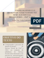 1 aula - O METODOLOGISMO E O DESENVOLVIMENTISMO