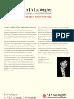 2011 AIA|LA Design Conference in Dwell on Design Preview Magazine
