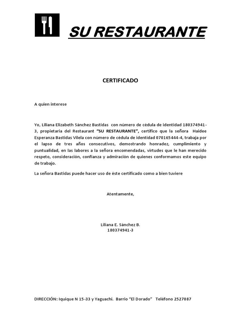 formatos de certificado - Pertamini.co