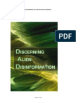 Discriminando Desinformacion Alienigena
